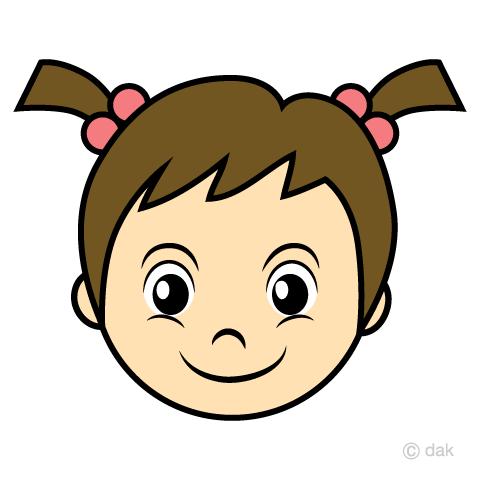 女の子幼児の顔の無料イラスト素材イラストイメージ