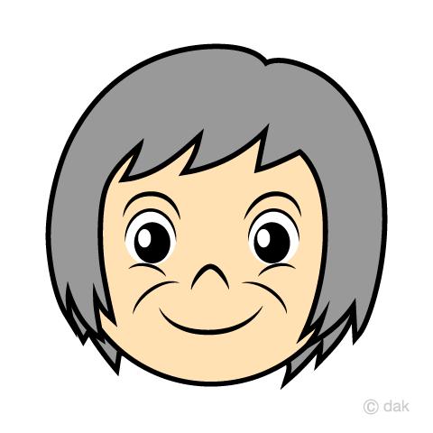 おばあちゃんの顔の無料イラスト素材 イラストイメージ