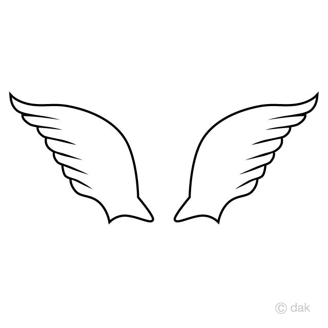 かわいい羽の無料イラスト素材イラストイメージ