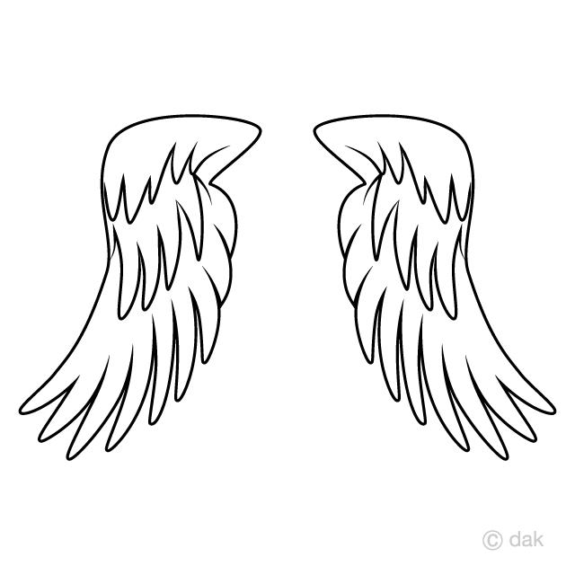 天使の翼の無料イラスト素材イラストイメージ