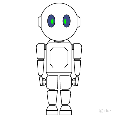 コミュニケーションロボットの無料イラスト素材イラストイメージ