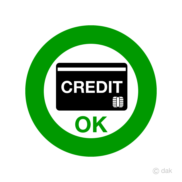 Credit card payment possible sign