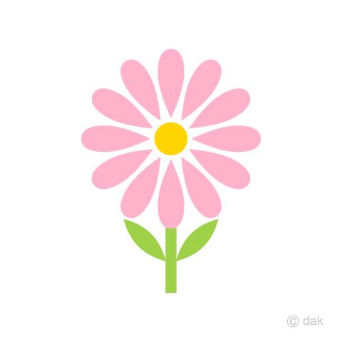 可愛いコスモスの花の無料イラスト素材イラストイメージ