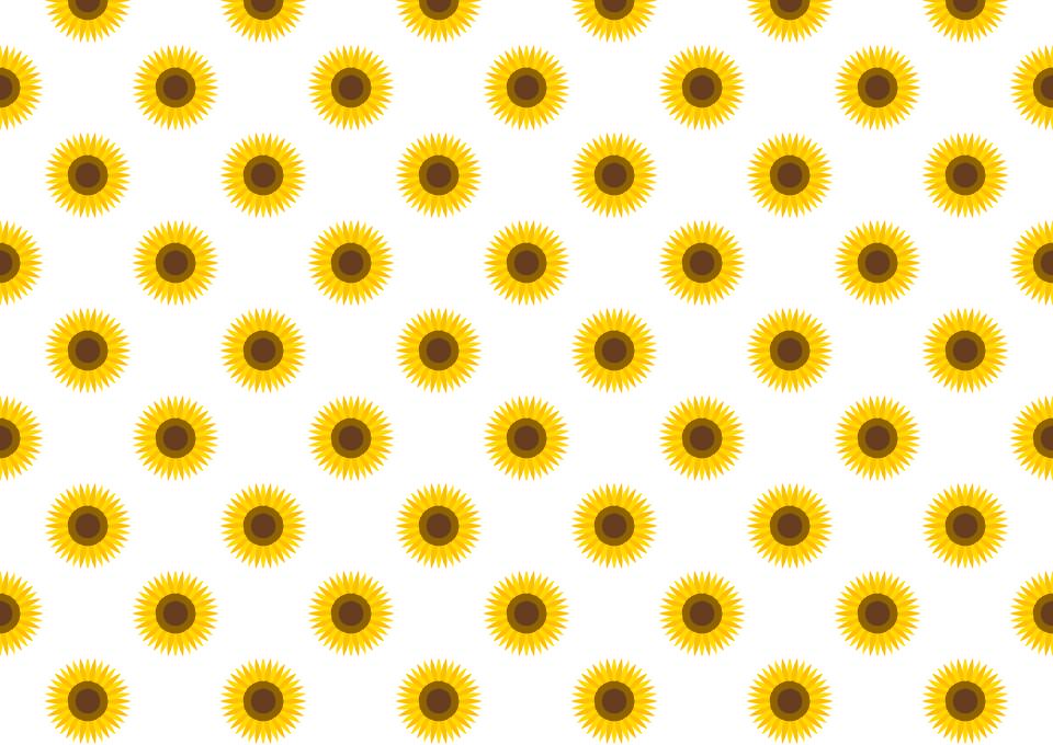 ひまわり花壁紙の無料イラスト素材 イラストイメージ