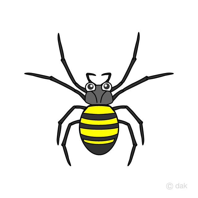 蜘蛛キャラの無料イラスト素材イラストイメージ