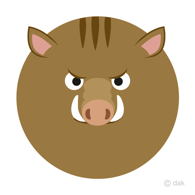 Face of a boar character