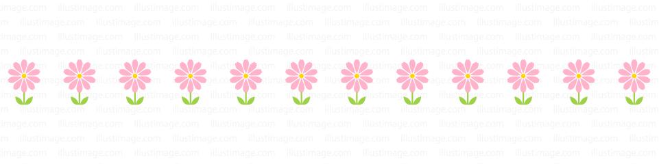 かわいいコスモスのライン線の無料イラスト素材イラストイメージ