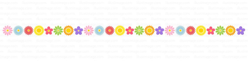 たくさんの可愛い花柄ライン・線の無料イラスト素材|イラストイメージ