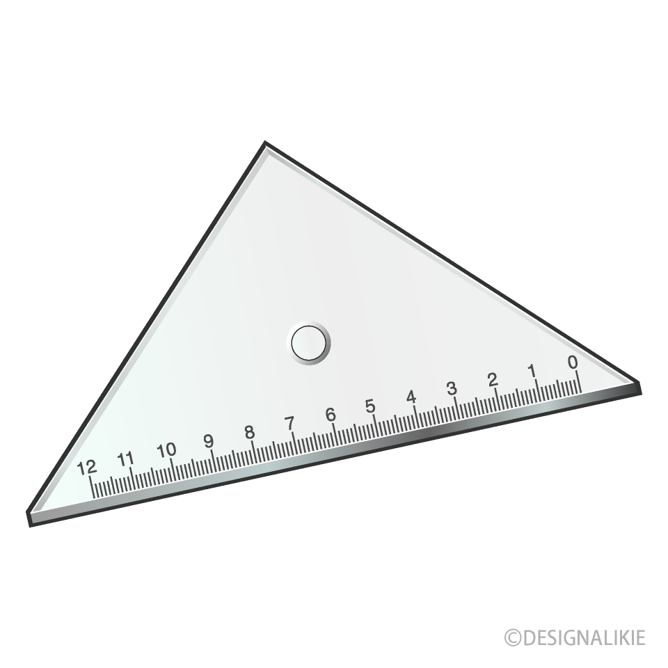 三角定規アイコンの無料イラスト素材イラストイメージ