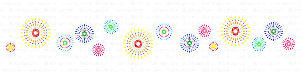 花火のライン線イラストのフリー素材|イラストイメージ