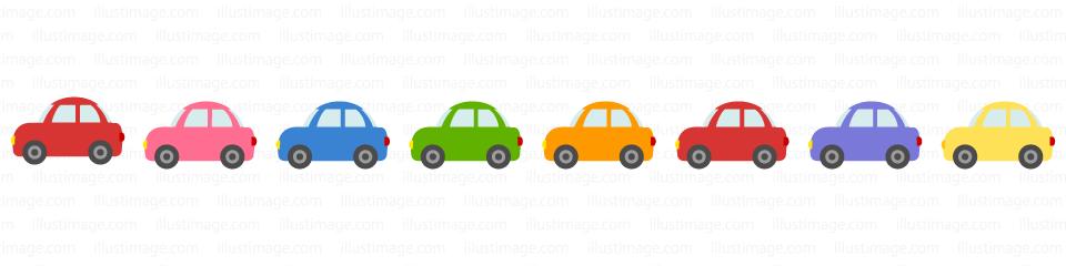 かわいい車のライン線の無料イラスト素材|イラストイメージ