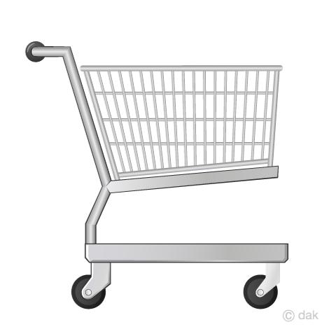 ショッピングカートの無料イラスト素材イラストイメージ