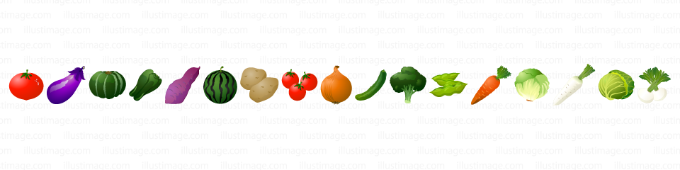 野菜のライン線の無料イラスト素材イラストイメージ