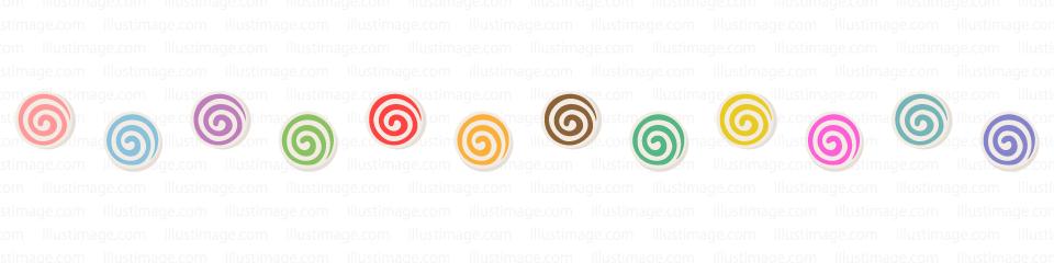 キャンデーのライン線イラストのフリー素材 イラストイメージ