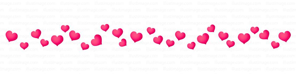 ハートいっぱいのライン線の無料イラスト素材 イラストイメージ