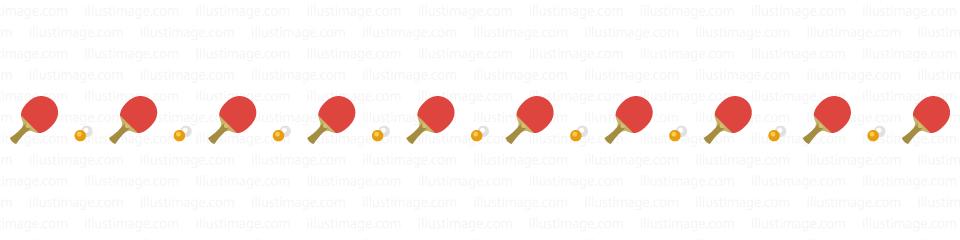 卓球のライン線の無料イラスト素材イラストイメージ