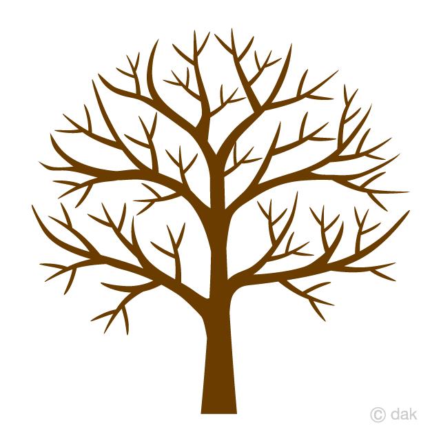 木の枝のみの無料イラスト素材イラストイメージ