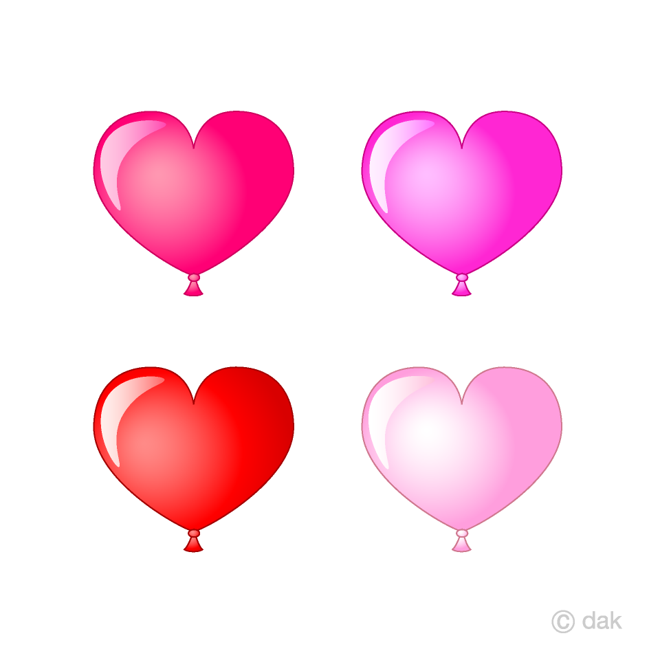 Heart type balloon