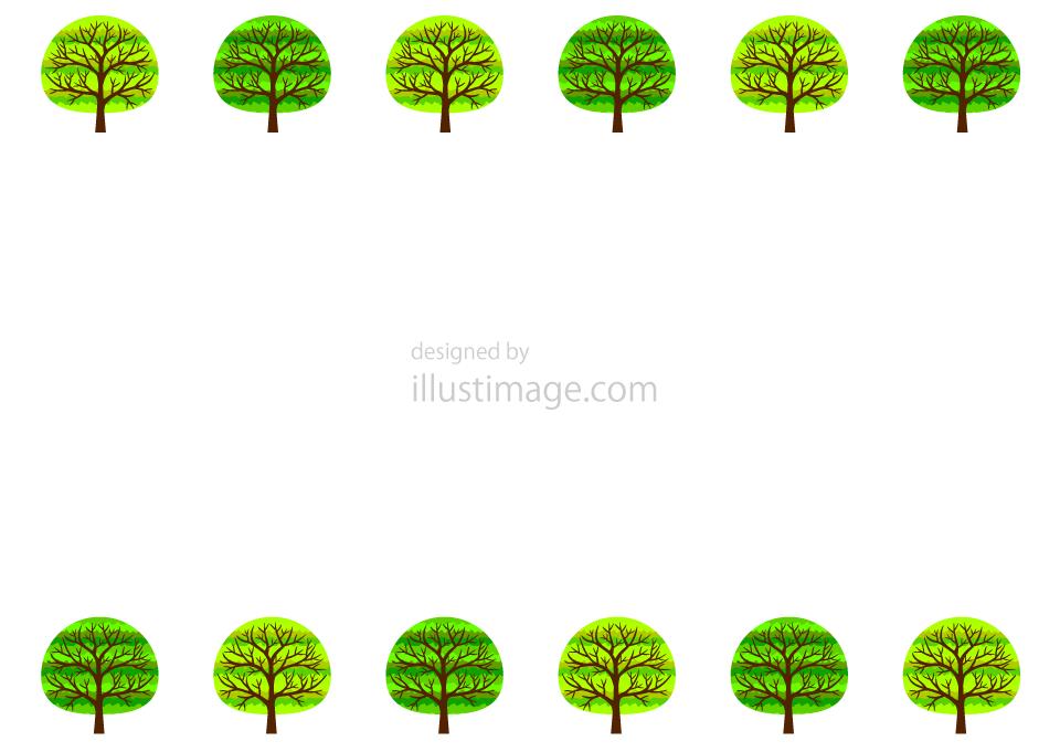 オシャレな木フレームの無料イラスト素材イラストイメージ