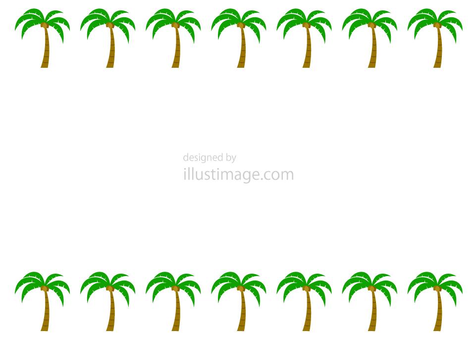 ヤシの木フレームの無料イラスト素材イラストイメージ