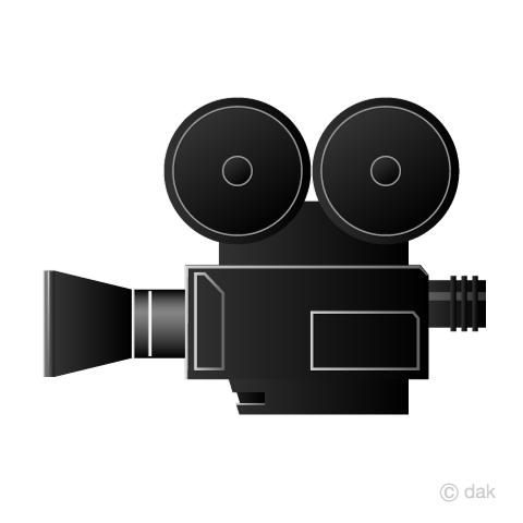 映画フィルムカメラの無料イラスト素材イラストイメージ
