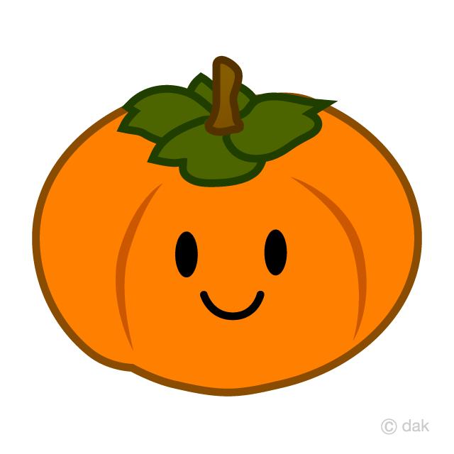 可愛い柿キャラの無料イラスト素材イラストイメージ