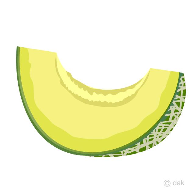黄色果肉のカットメロンの無料イラスト素材イラストイメージ