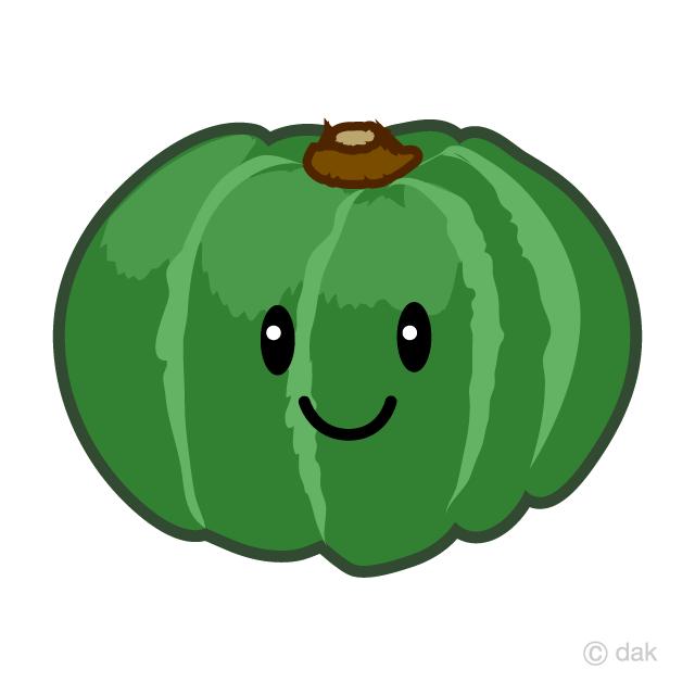 可愛いかぼちゃキャラの無料イラスト素材イラストイメージ