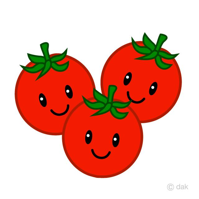 可愛いミニトマトキャラの無料イラスト素材イラストイメージ