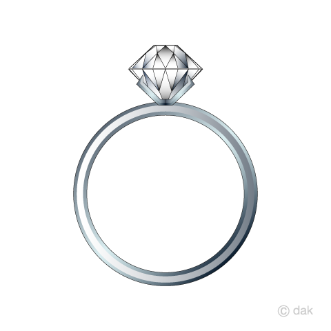 ダイヤモンドの指輪の無料イラスト素材イラストイメージ