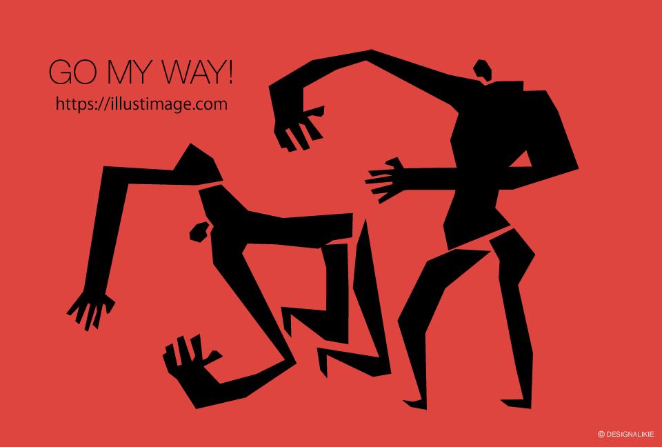 格闘男の無料イラスト素材イラストイメージ