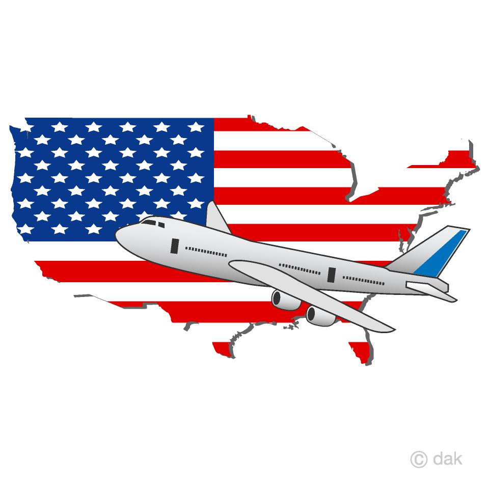 アメリカ旅行の無料イラスト素材イラストイメージ