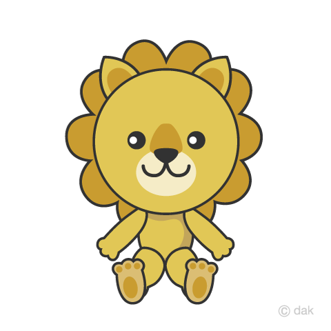 Cute lion character