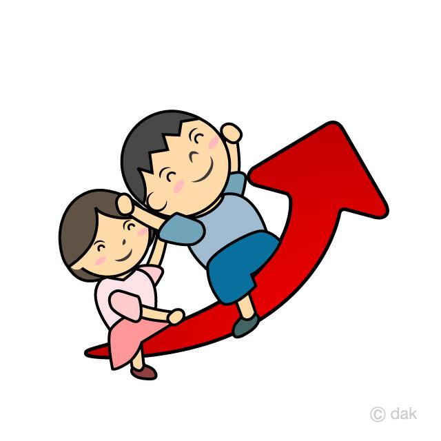 どんどん成長する子供の無料イラスト素材 イラストイメージ