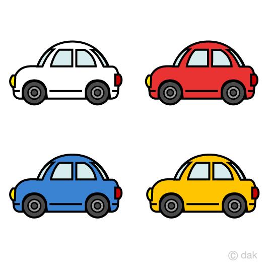 車アイコンの無料イラスト素材イラストイメージ