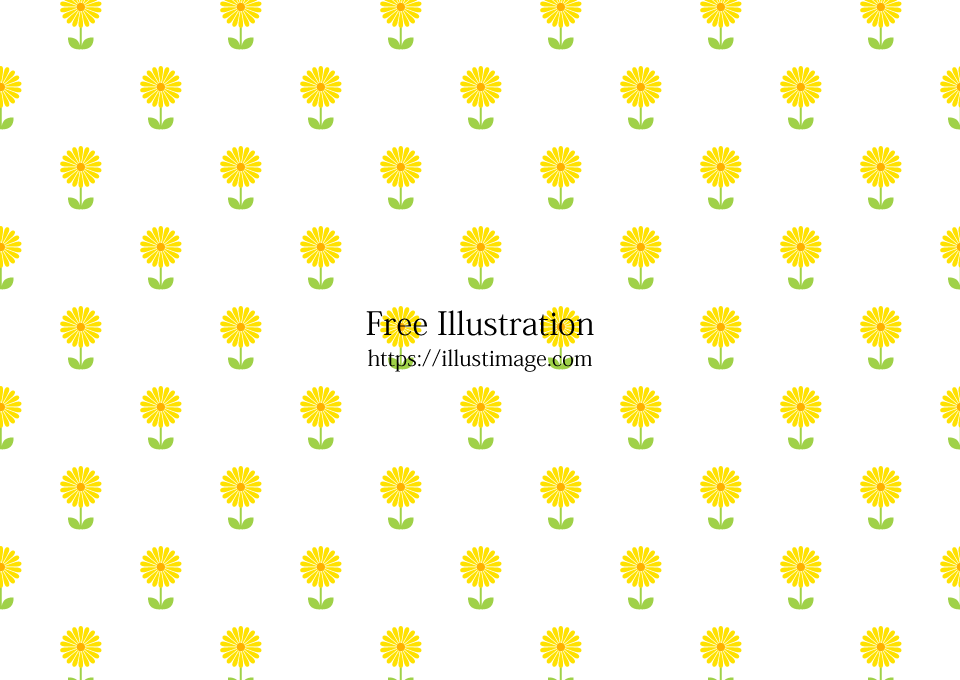 可愛いたんぽぽ柄の壁紙の無料イラスト素材イラストイメージ