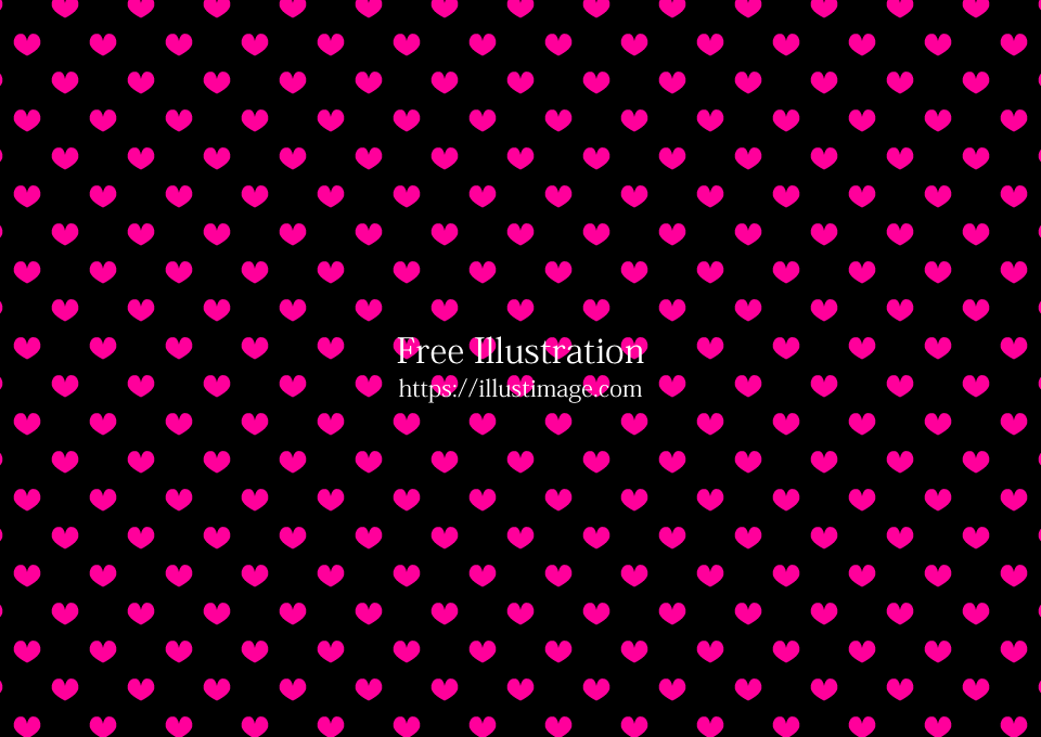 Pink Heart wallpaper on black background