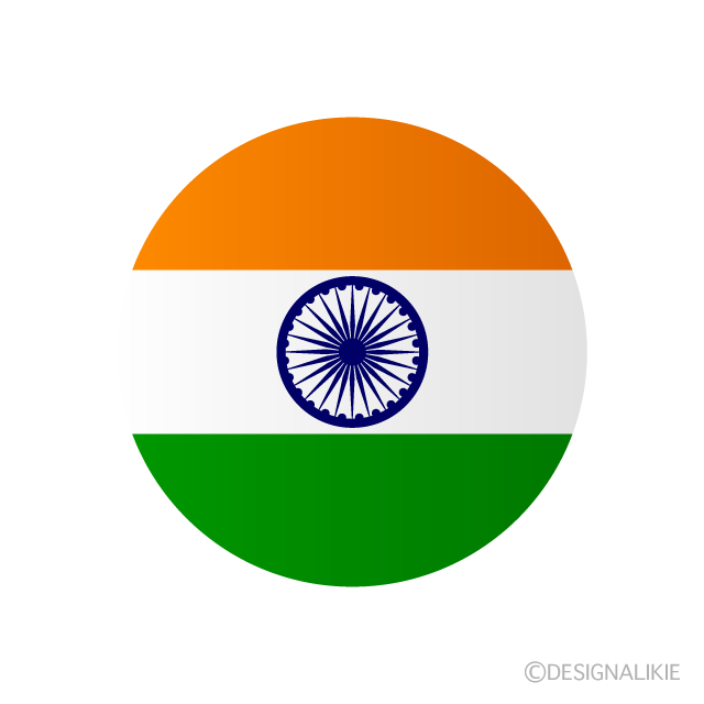 Indian flag (round)