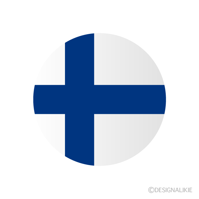 Finnish flag (round)