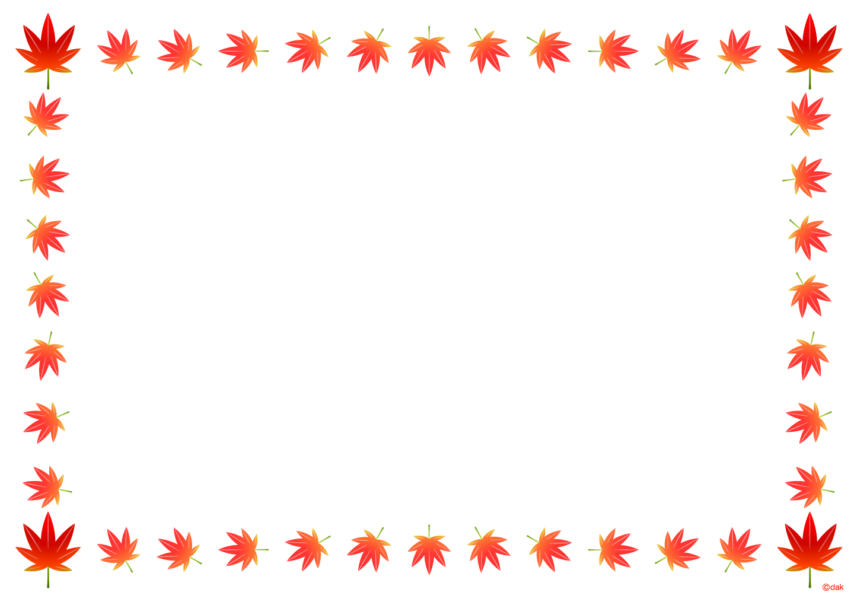 紅葉の枠の無料イラスト素材イラストイメージ