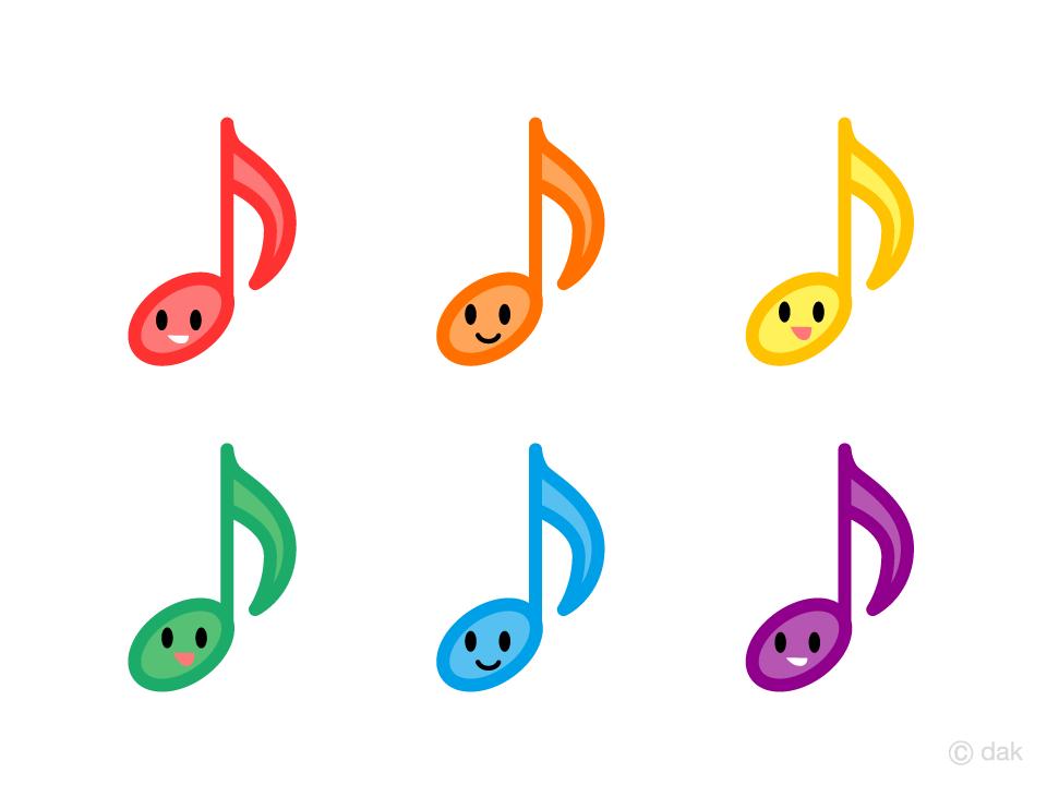 可愛い八分音符キャラの無料イラスト素材イラストイメージ