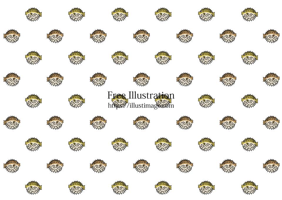 可愛いハリセンボン壁紙の無料イラスト素材イラストイメージ