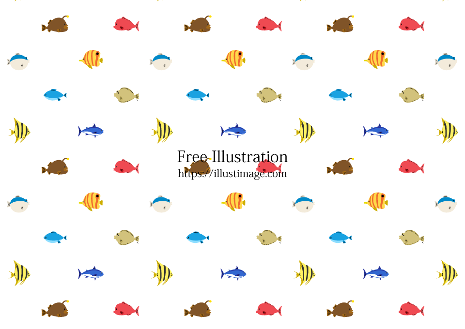 可愛い海の魚壁紙の無料イラスト素材イラストイメージ
