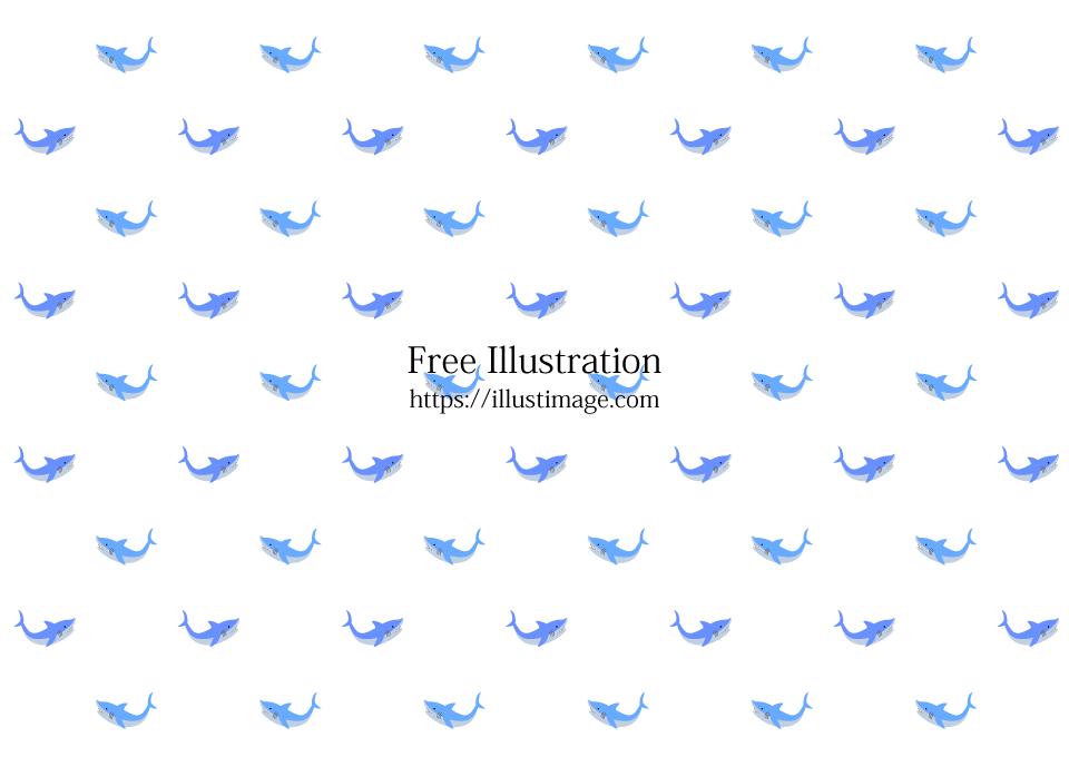 可愛いサメ壁紙の無料イラスト素材 イラストイメージ