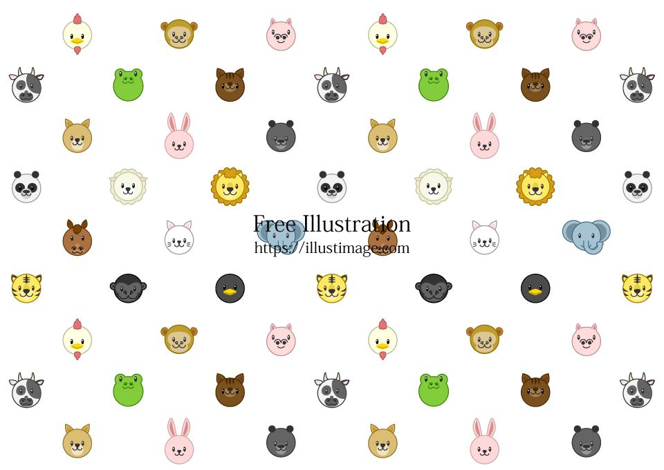 可愛い動物壁紙の無料イラスト素材 イラストイメージ