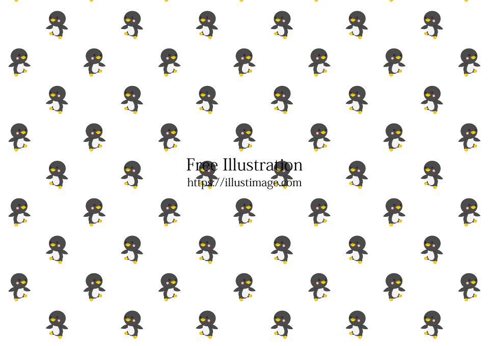 可愛いペンギン壁紙の無料イラスト素材 イラストイメージ
