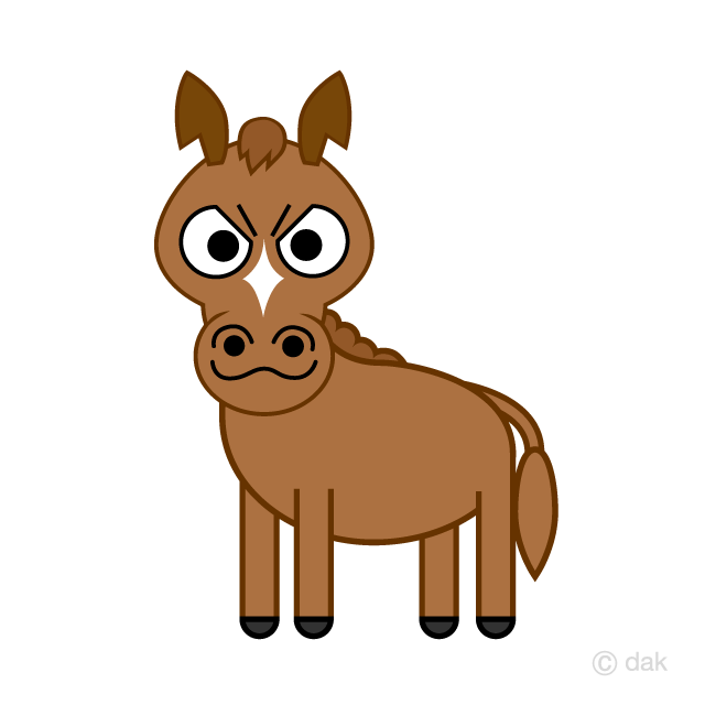 Manly horse character