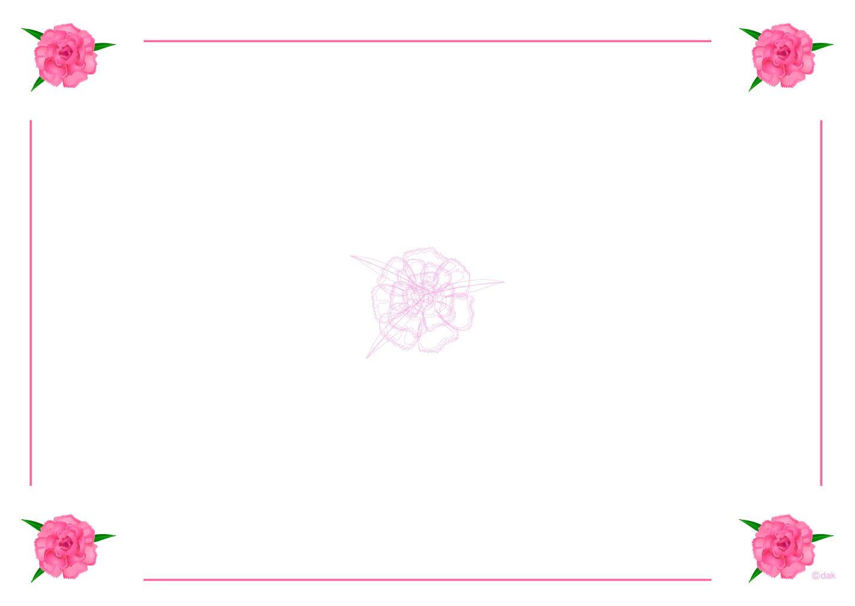 カーネーション枠の無料イラスト素材 イラストイメージ