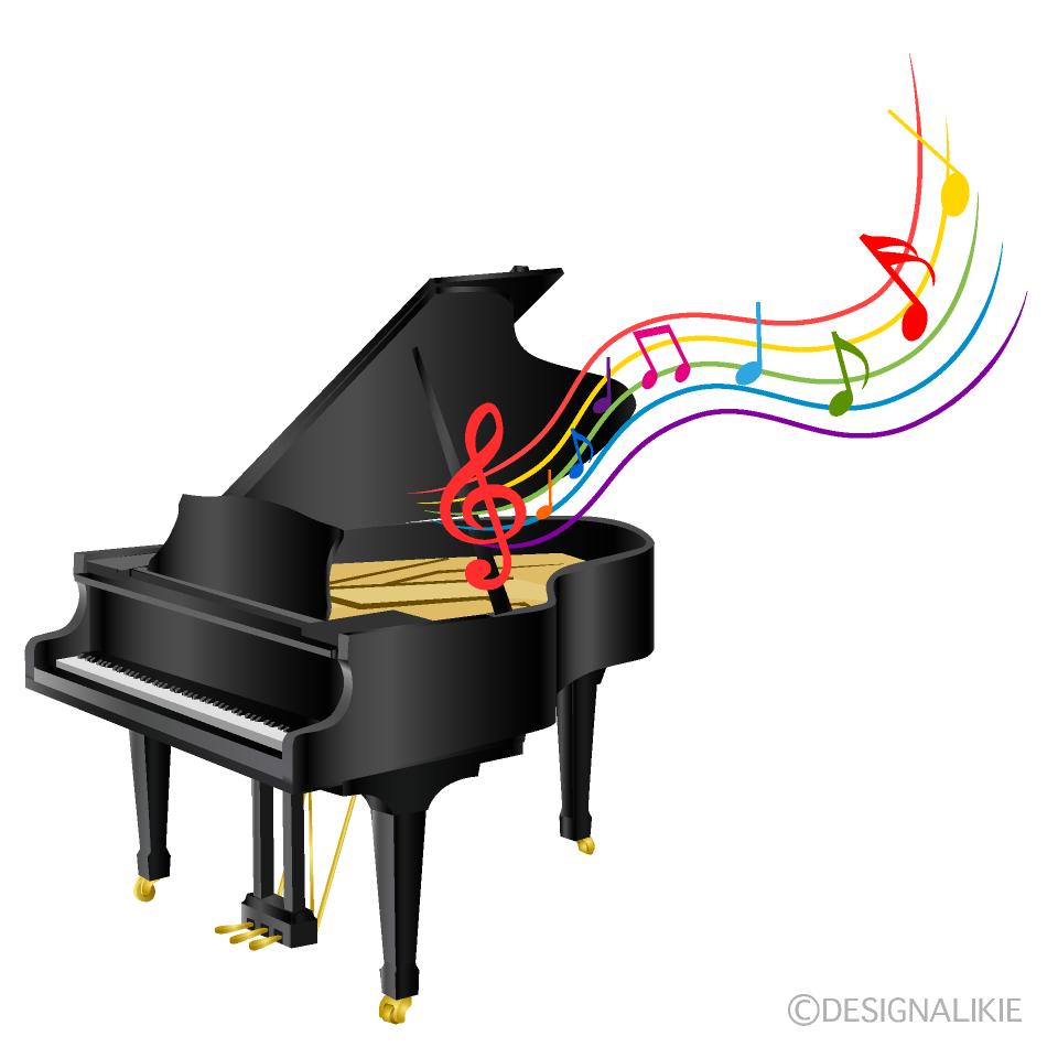 グランドピアノの演奏の無料イラスト素材イラストイメージ