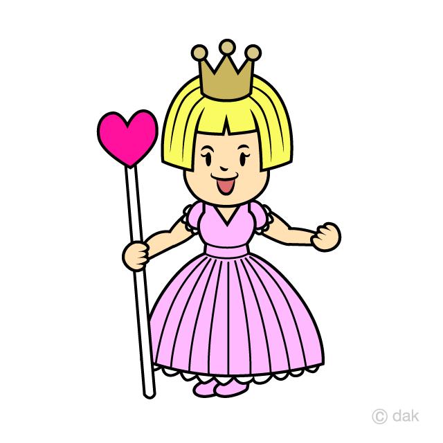 お姫様の無料イラスト素材イラストイメージ